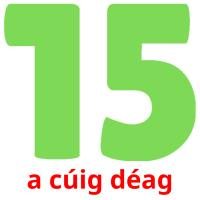 a cúig déag picture flashcards