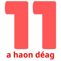 a haon déag picture flashcards