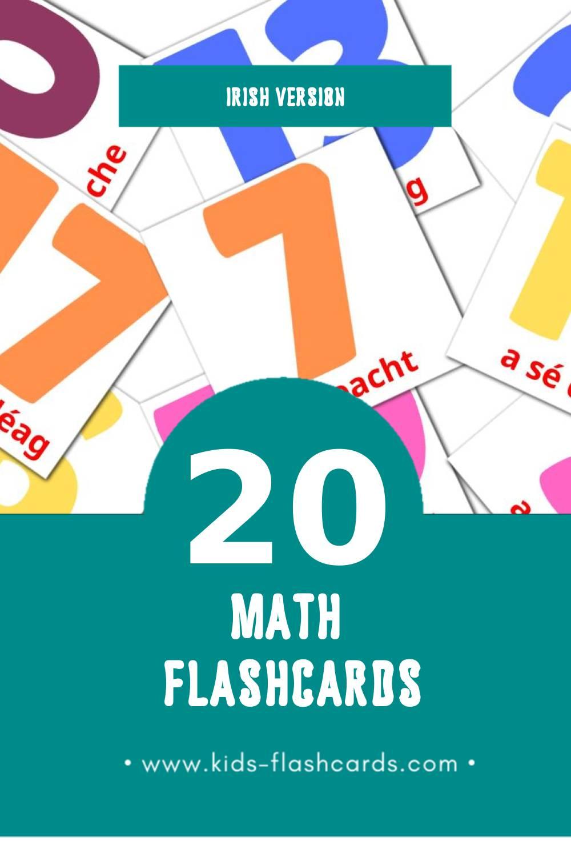 Visual irishg Flashcards for Toddlers (20 cards in Irish)