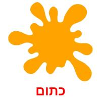 כתום picture flashcards