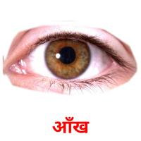 आँख picture flashcards