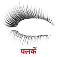 पलकें picture flashcards