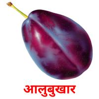 आलुबुखार picture flashcards