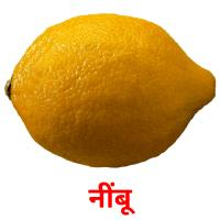 नींबू picture flashcards