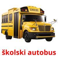 školski autobus picture flashcards