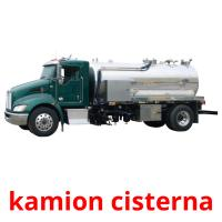 kamion cisterna picture flashcards