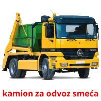 kamion za odvoz smeća picture flashcards