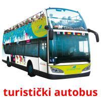 turistički autobus picture flashcards