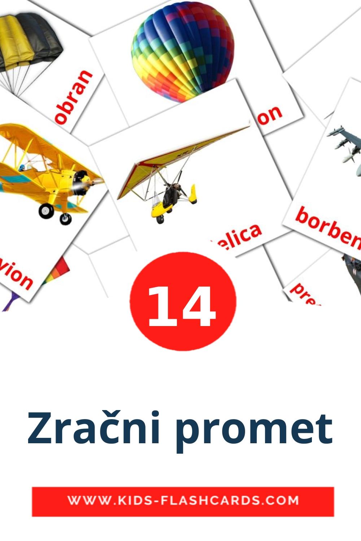 14 Zračni promet Picture Cards for Kindergarden in croatian