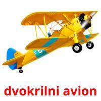 dvokrilni avion picture flashcards