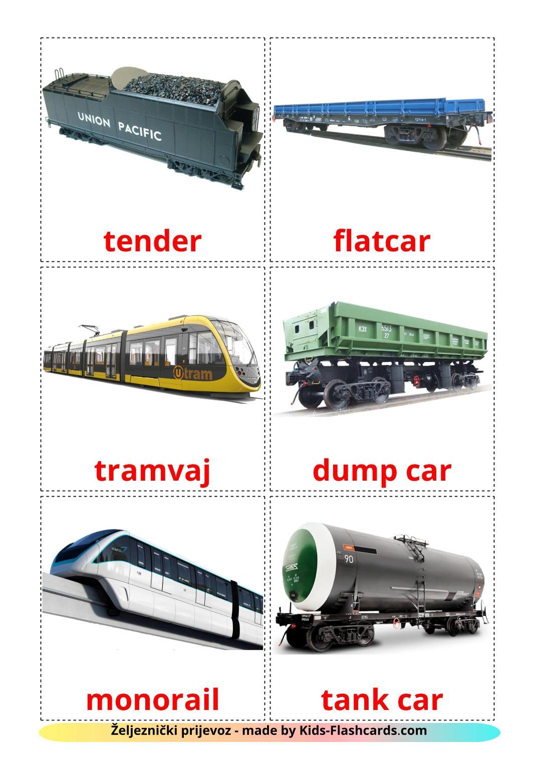 Rail transport - 18 Free Printable croatian Flashcards