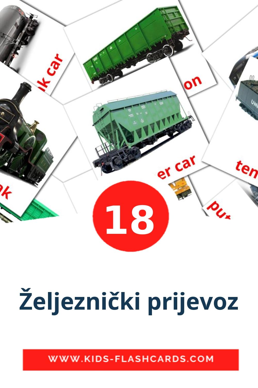 18 Željeznički prijevoz Picture Cards for Kindergarden in croatian