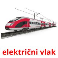 električni vlak picture flashcards