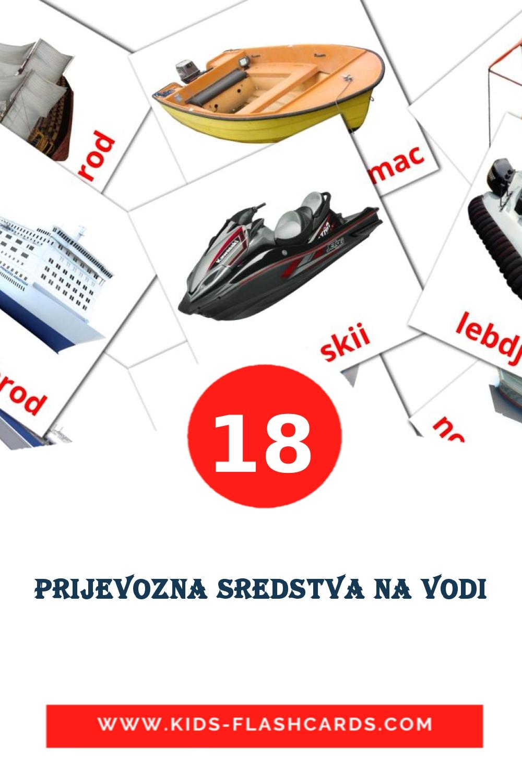18 Prijevozna sredstva na vodi Picture Cards for Kindergarden in croatian