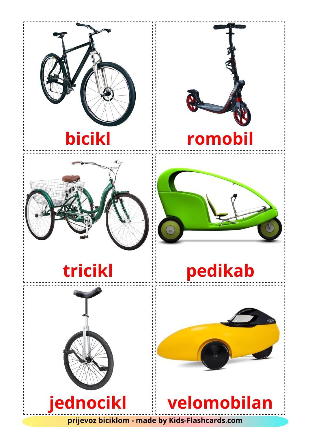 Bicycle transport - 16 Free Printable croatian Flashcards