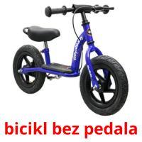 bicikl bez pedala picture flashcards