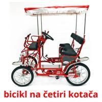 bicikl na četiri kotača picture flashcards