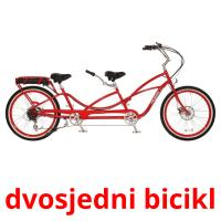 dvosjedni bicikl picture flashcards
