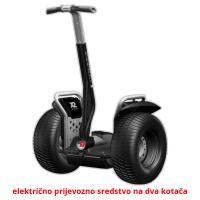 električno prijevozno sredstvo na dva kotača picture flashcards