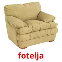 fotelja picture flashcards