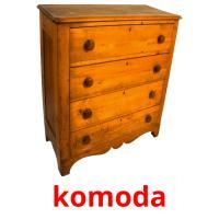 komoda picture flashcards