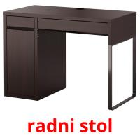radni stol picture flashcards
