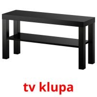 tv klupa picture flashcards