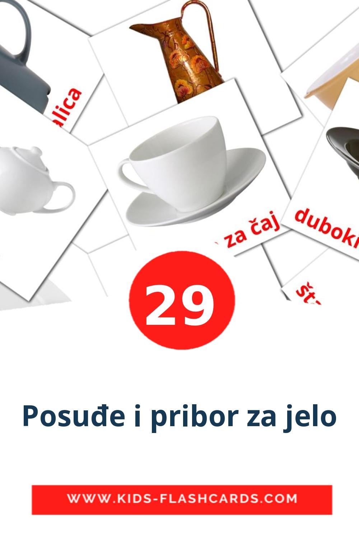 29 Posuđe i pribor za jelo Picture Cards for Kindergarden in croatian