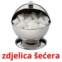 zdjelica šećera picture flashcards