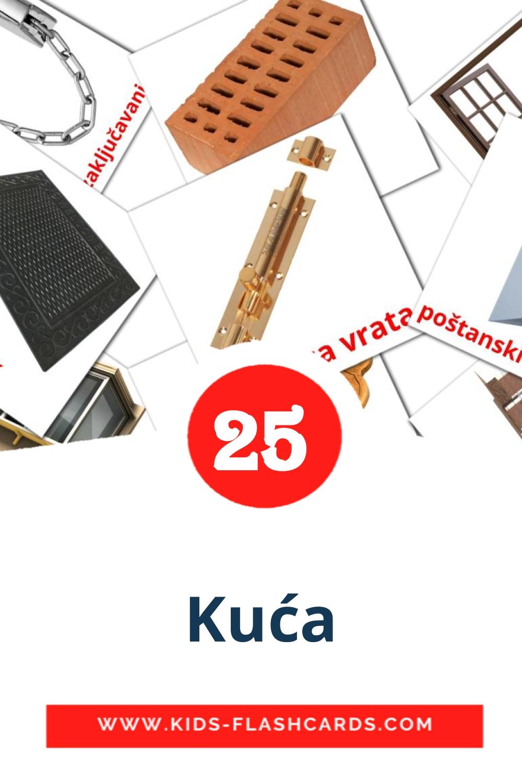 25 Kuća Picture Cards for Kindergarden in croatian