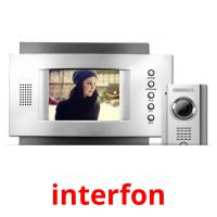 interfon picture flashcards