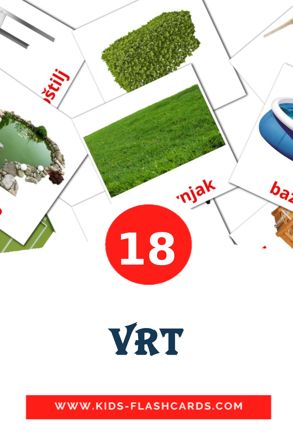 18 Vrt Picture Cards for Kindergarden in croatian