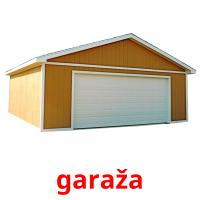 garaža picture flashcards
