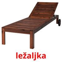 ležaljka picture flashcards