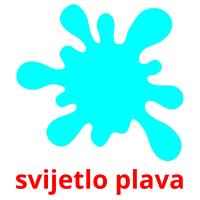 svijetlo plava picture flashcards