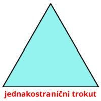 jednakostranični trokut picture flashcards