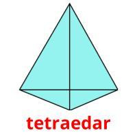 tetraedar picture flashcards