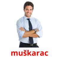muškarac picture flashcards