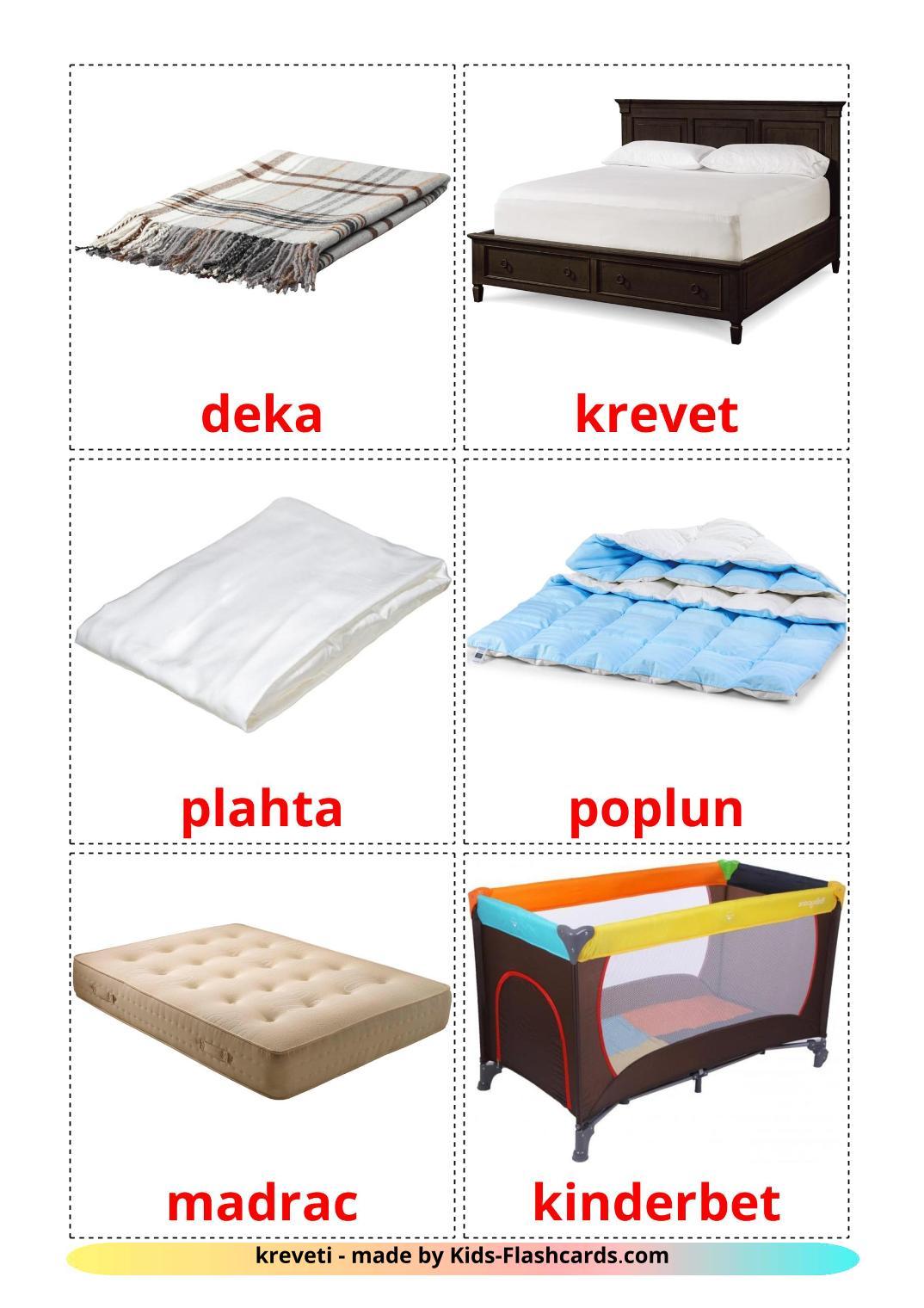 Bed - 15 Free Printable croatian Flashcards