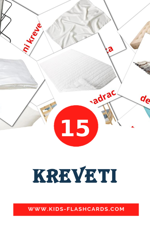 15 kreveti Picture Cards for Kindergarden in croatian