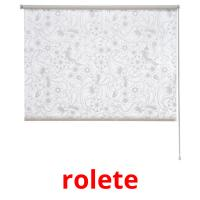 rolete picture flashcards