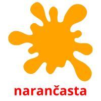 narančasta picture flashcards
