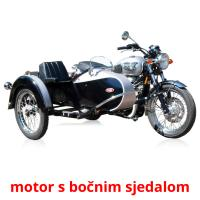 motor s bočnim sjedalom picture flashcards