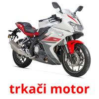trkači motor picture flashcards
