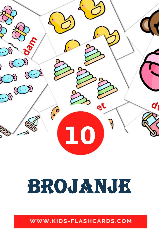 10 Brojanje Picture Cards for Kindergarden in croatian