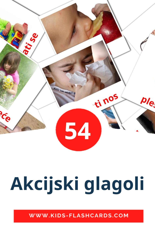 55 Akcijski glagoli Picture Cards for Kindergarden in croatian