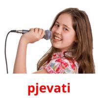 pjevati picture flashcards