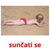 sunčati se picture flashcards