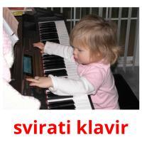 svirati klavir picture flashcards