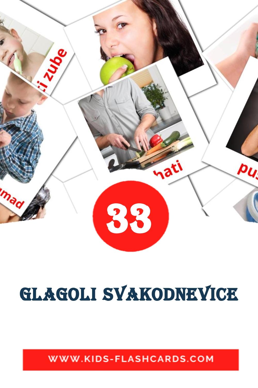 33 Glagoli svakodnevice Picture Cards for Kindergarden in croatian